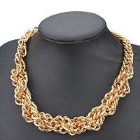 ZA brand twisted chain gold plated necklace for women 2014 fashion desgin jewelry