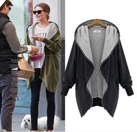 plus size XL TO 5XL women coat 2014 fall new arrival jackets women long sleeve autumn cotton long sleeve coat free shipping