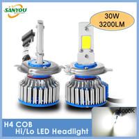 1 Set H4 Led Headlights Car H1/H4/H7/H11/9005/9006/D2 LED Headlight Headlamp Bulbs Fog Light Led Lamp Driving Light