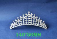 2014 New Fashion Wedding Bridal Crystal Rhinestone Crown Headband Jewelry Tiara Hair Comb Clip G0024