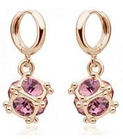 Fashion girls jewelry Ball 7 colour Austrian crystal earrings Fashion Jewelry 60080E052