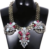 2014 New Fashion Statement Necklace Big Pendant Choker Collares Necklace Women Brinco Accessories
