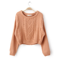 2014 spring and autumn hot-selling lady sweater small twist pullover 5 color o-neck vintage women winter sweater