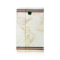 map magfic printing PU leather case for samsung galaxy tab4 t230 free stylus free shipping