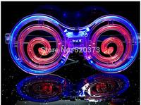 Circle of malt LED Flash Glasses four color For Dances / Party Supplies Decoration Glow Mask Christmas Halloween