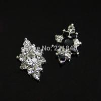 30pcs/lot Unique Shape 7x11mm Bling Rhinestone Crystal DIY  Design Metal Alloy 3D Nail Art Decoration Tips Craft Phone Accessory