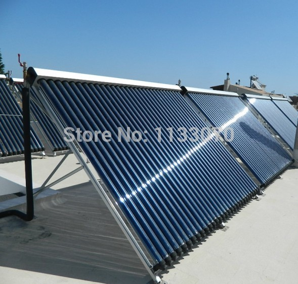 SC-AL-58/1.8/30 30 Tubes Heat Pipe Vacuum Tube Solar Collector for Hot Water Heating, Anti-Frost Solar Thermal Collector(China (Mainland))