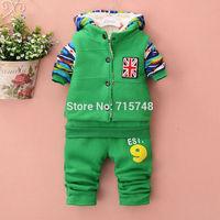 The new children 's warm winter suit Coat + vest + pants Baby clothing set kids clothes sets children hoody Winter sports suit