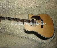 Wholesale Guitars Natural 45 S Electric Acoustic Guitar Fishman pickup Flower Fingerboard HOT