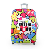 Free Shipping Elastic Luggage Cover Luggage Protector Suitcase Cover Dust Cover 24 Inch 7 Styles