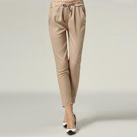 M-5XL Spring Autumn Women Fashion Plus Size xxxl OL Formal Elastic Waist Casual Harem Pants Slim Thin Capris XXXL 4XL 5XL