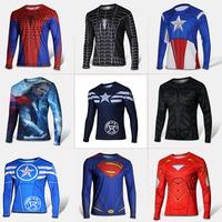 TOP Quality Marvel 3D TEE Batman America Super Hero American Flag t-shirt men jersey USA clothing Breathable long sleeve T shirt