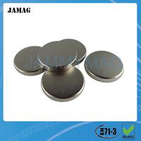 Jamag n35 ndfeb/neodymium ni-cu-ni coating magnet D12x1mm