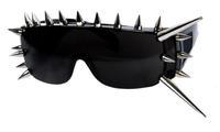 Free shipping Lady GaGa rivet punk explosion of orange sunglasses exaggerated