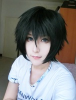 High Quality Beautiful Fashion Style Japanese Black Male Wig  karneval-GAREKI Cosplay Wig