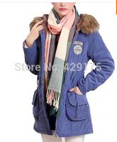 New Winter Womens Lady Casual Faux Fur Fleece Lined Jacket Military Parka Coat Anorak Overcoat