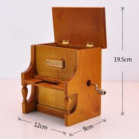 Wooden Music Box Musical Piano, DIY Make Yr Own Song Include a Punch and 3 Music Papers, 1 Has Musical Note and 2 Are Blank