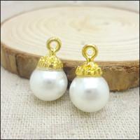 60  pcs high quality alloy accessories Crown pearl  earphones short design necklace diy handmade