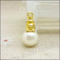 55  pcs high quality alloy accessories Crown pearl  earphones short design necklace diy handmade