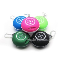 5 Color Wireless Bluetooth Stereo X-bass Sound Card Speaker with Carabiner Support Aux/TF Card