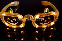 pumpkins Shape LED Flash Glasses For Dances / Party Supplies Decoration Glow Mask Christmas Halloween