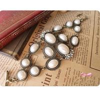 Free shipping New design fashion Personalized elegant Fashion retro style Double pearl bracelet jewelry for women 2014 PT36