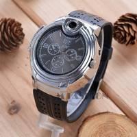 Hot Newest Military Lighter Watch Novelty Man Quartz Sports Refillable Butane Gas Cigarette Cigar Men Wristwatches SV007364 3F