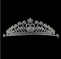 Gorgeous crystal bridal tiaras wholesale rhinestone wedding crown hair wear jewelry