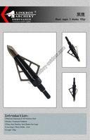 6) Linkboy black eagle 100gr 3 fixed blades hunting broadhead free shipping