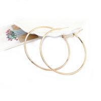 Free shipping New Arrival Fashion European American style 18k gold plated Metal Round hoop earrings jewelry for women 2014 PT31
