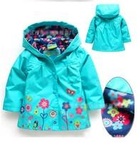 2014 Brand Children's Coat  Winter Baby Girls Printed Flowers Jackets Outerwear & Coats Jackets Children's Coat Bohemia Style