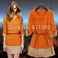 2014 chun xia is installed in the new long chiffon skirt big yards dress