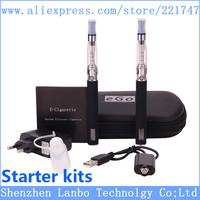 Electronic Cigarette eGo CE5 Double Starter Kits Ego Zipper Carry Case 650mAh 900mAh 1100mAh lcd eGo CE5 Kit Free Shipping
