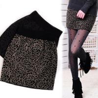 New Fashion Women Leopard Thread Cotton Bag Hip Skirt a-Line Skirt A Bust Miniskirt Render Skirt Free Shipping Avoid Freight
