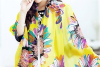 2014 new Autumn Winter Vintage Warm sunflower print Scraves Bohemian Laides Women Scarf Sunscreen Wrap Shawl Free drop Shipping