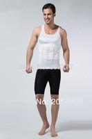 HOT Sale Men's Slimming Lift Vest Belly Buster Body shaper shirt 100pcs(OPP bag package)