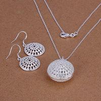 S202 925 sterling silver jewelry set, fashion jewelry set Bun Earrings Necklace S202 /dfgalwna hseaqjla