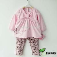 GIRL'S  clothing set girl's fashion BABY clothing set 2pcs 1 SET kid's garment  ,Freeshipping