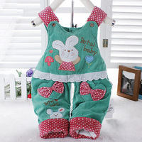 2014 Jeans Romper Baby Suspender Trousers Kids Overalls Jumpsuit Children's Clothing Set Girl Wither Pants 0-2T