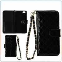 Free shipping! Fashion Lattice Japanned PU leather stand Flip case wallet design ID card case cover skin For iPhone 6 case