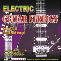 EMS Shipping 60 Sets Alice A507-L or A507-SL Light Super Light Electric Guitar Strings Set (6pcs per set)