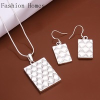 S497 Promtion gift 2015 fashion vintage 925 silver plated jewelry sets , silver women jewelry sets