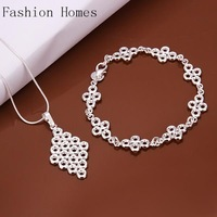 S520 Promtion gift 2015 fashion vintage 925 silver plated jewelry sets , silver women jewelry sets