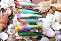 Fishing kit artificial lures popper fishing lure 10.5CM 15.7G 4# (PO024) plastic sunfish fishing lures crank bait fishing hooks