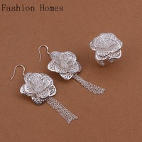 S441 Promtion gift 2015 fashion vintage 925 silver plated jewelry sets , silver women jewelry sets