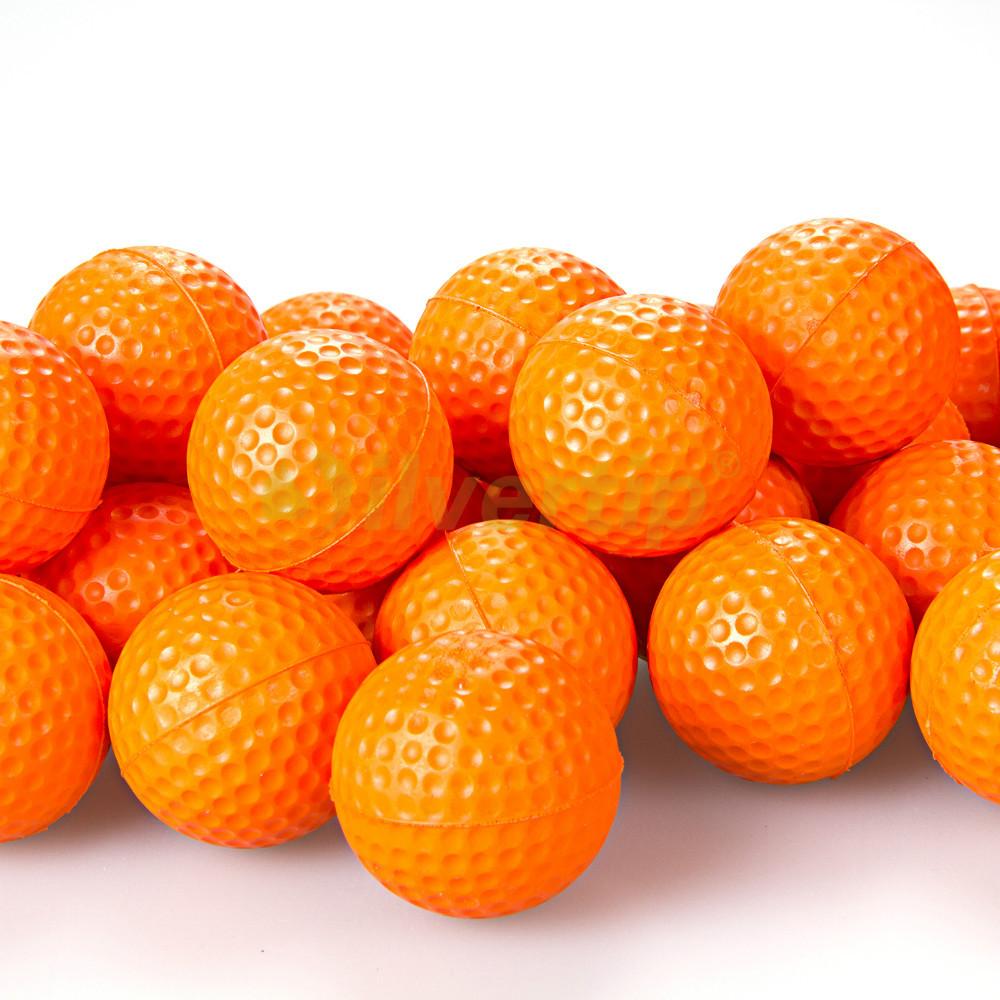 Free Shipping New 30pcs Orange PU Foam Golf Balls Sponge Elastic Indoor Outdoor Practice Training(China (Mainland))