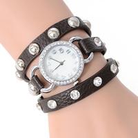 2014 ladies top quality Rhinestone fashionwatches Diamond bracelet watches women dress Sparkling leather quartz watch JW1756