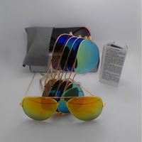 New 2014 RB Sunglasses Brand designer Ray 3025 Women Men Sun glasses Aviator Driving outdoor oculos de sol feminino