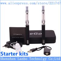 Electronic Cigarette eGo CE5 Double Starter Kits Ego Zipper Carry Case 650mAh 900mAh 1100mAh eGo-LCD battery CE5 atomizer Kit