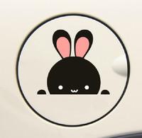 Free Shipping Lovely Car Stickers, Little Rabbit Car Decal , Waterproof On Rear Windshield Door Tank Lid Sticker